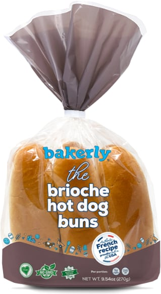 Bakerly Brioche Hamburger or Hot Dog Buns