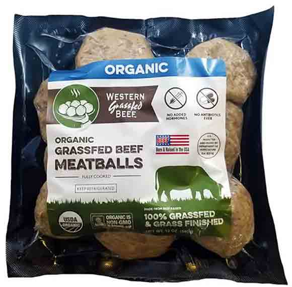 Western Grassfed Organic Hot Dogs or Meatballs