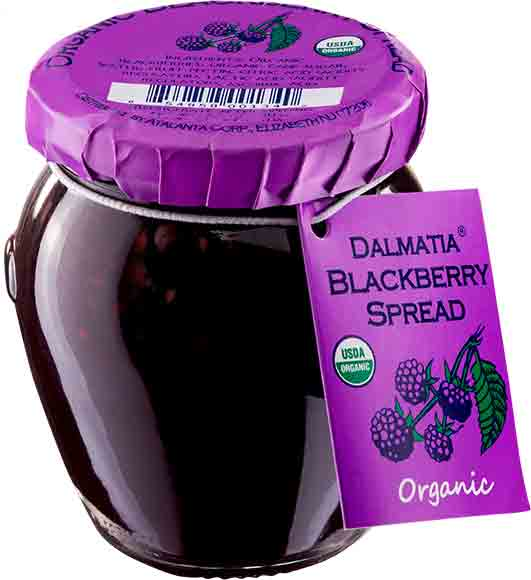 Organic Apricot or BlackberrySpread