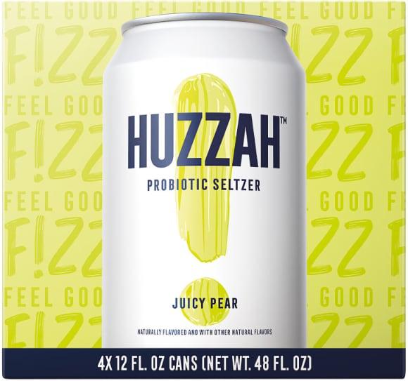 Huzzah Probiotic Seltzers