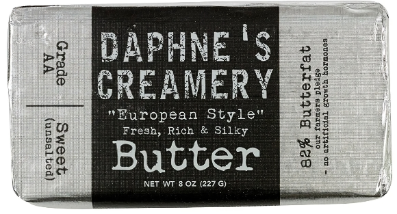 Daphne's Creamery European Style Unsalted Butter