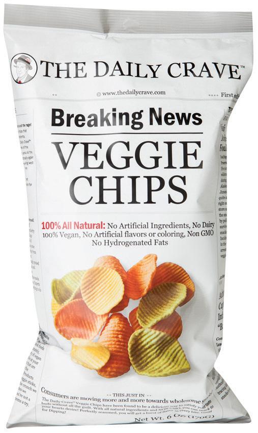 The Daily Crave Lentil or Veggie Chips
