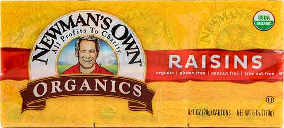 Newman's Own Raisins Mini Boxes