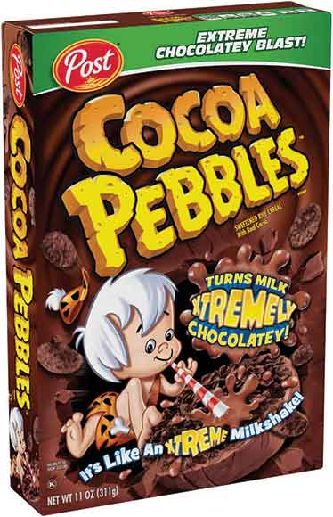 Cocoa or Fruity Pebbles Cereal