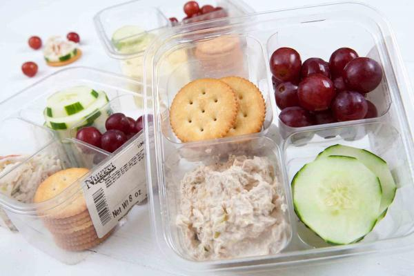 Chicken, Tuna or Egg Salad Lunch Boxes