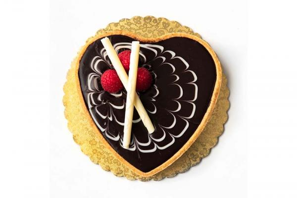 Chocolate Raspberry Heart Tart