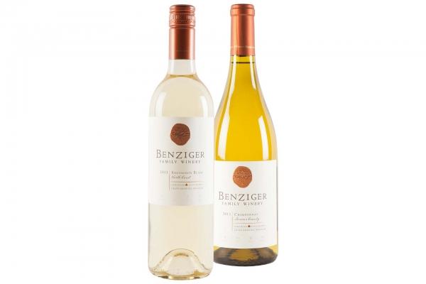 Benziger Sauvignon Blanc and Chardonnay
