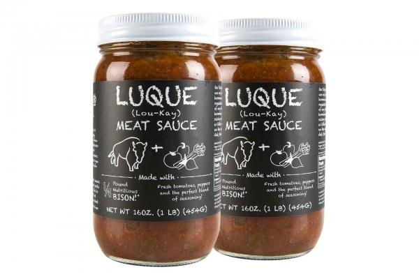 Luque Bison Meat or Vegetarian Sauce