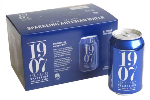 1907 New Zealand Sparkling Water 6 Packs