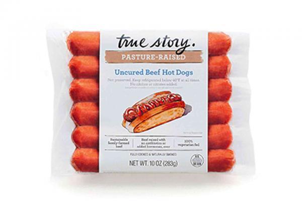 True Story Uncured Beef HotDogs