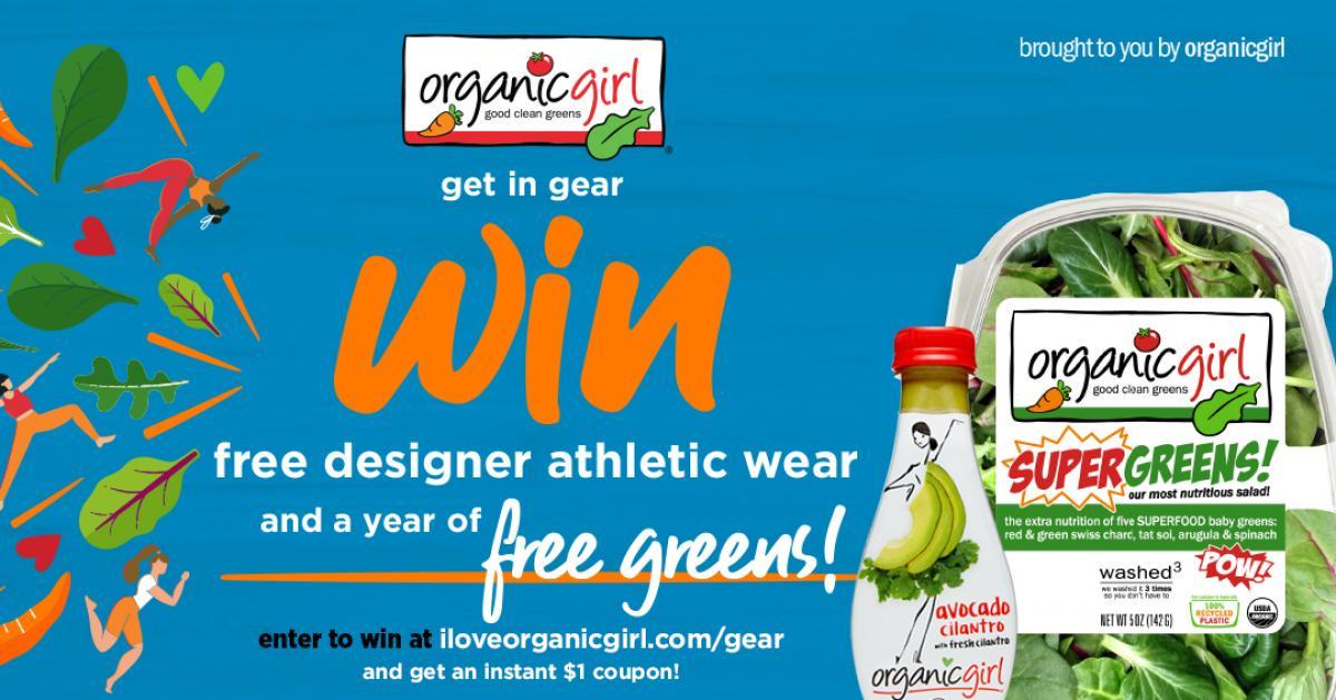 Organic Girl free greens contest banner