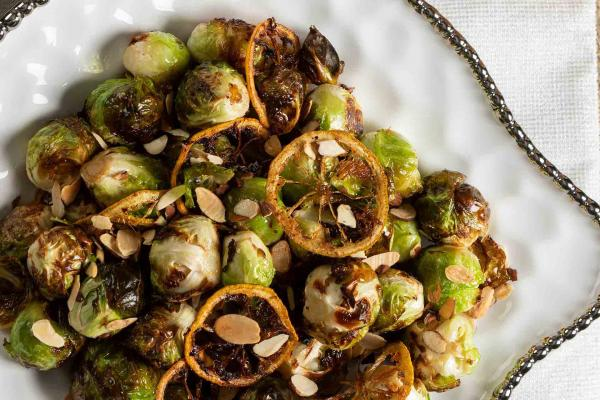 Roasted Brussels Sprouts with Fried Lemon