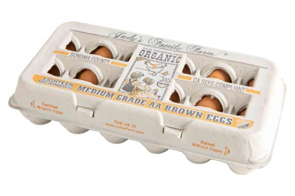 Judy's Organic Cage Free Medium AA Brown Eggs