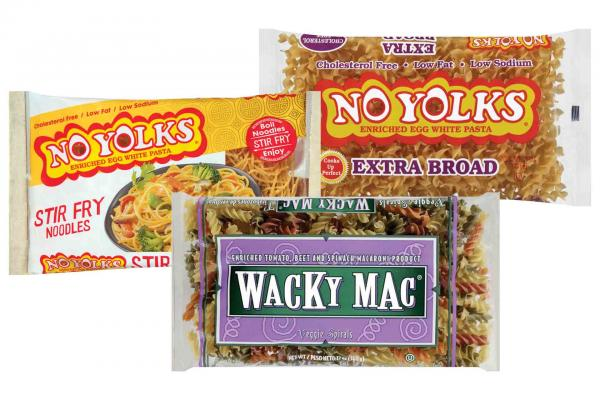 No Yolks Noodles or Wacky Mac Pasta