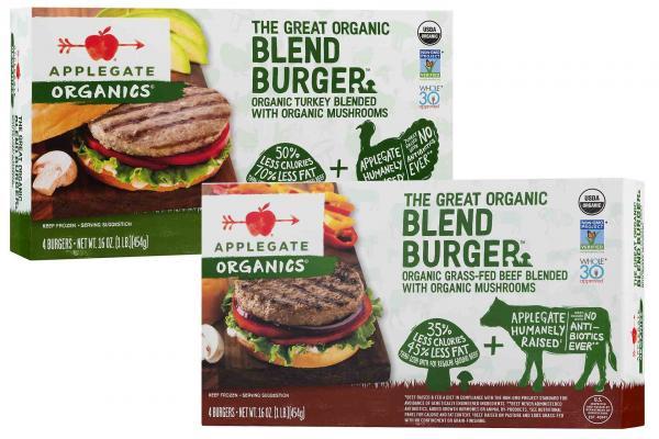 Applegate Organics Blend Burgers