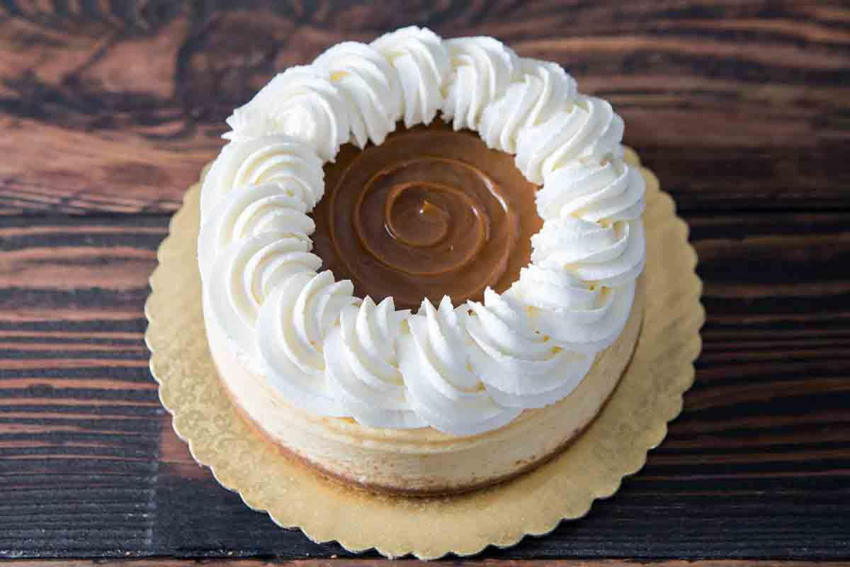 New York Style Caramel Cheesecake