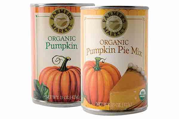 Farmer's Market Organic Butternut Squash, Pumpkin, Pumpkin Pie Mix or Sweet Potato Puree
