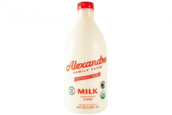 Alexandre Family Farm Organic A2 6% Whole Milk