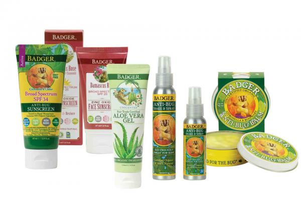 Badger Sunscreen and Anti-Bug Products