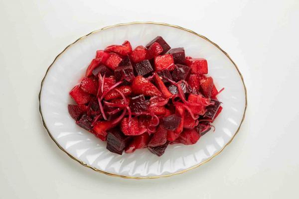Watermelon, Beet & Strawberry Salad