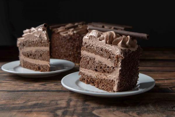 Chocolate Mousse Cake Slice