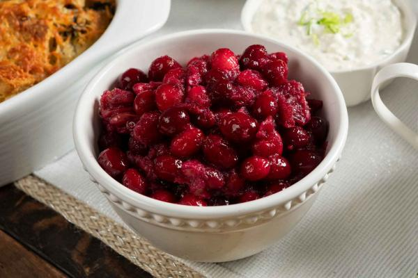 Brandied Cranberries With Toasted Walnuts