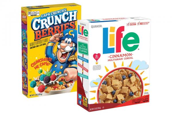Cap'n Crunch and Life Cereals