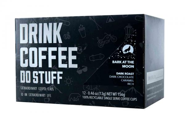 Drink Coffee Do Stuff Bark at the Moon K-Cups