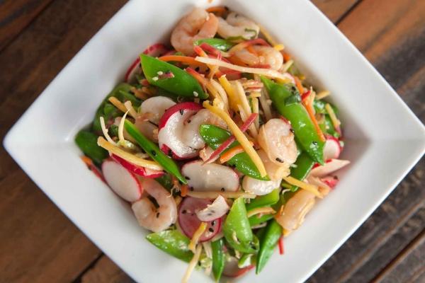 Sugar Snap Pea Salad With Prawns