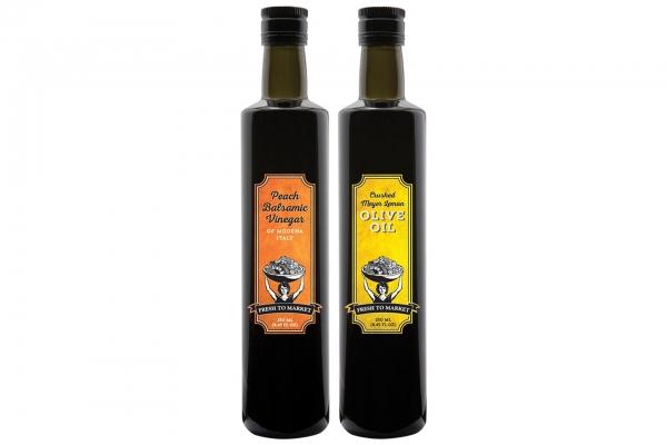 Crushed Meyer Lemon Olive Oil or Peach Balsamic Vinegar