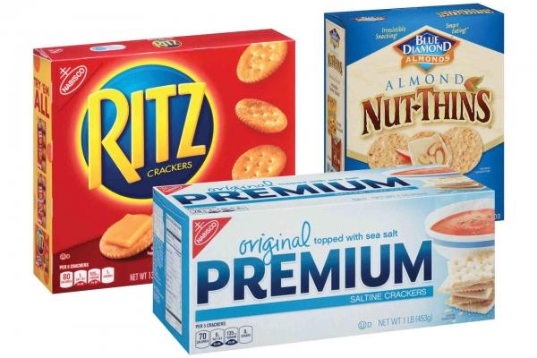 Blue Diamond Nut Thins or Nabisco Premium or Ritz Crackers